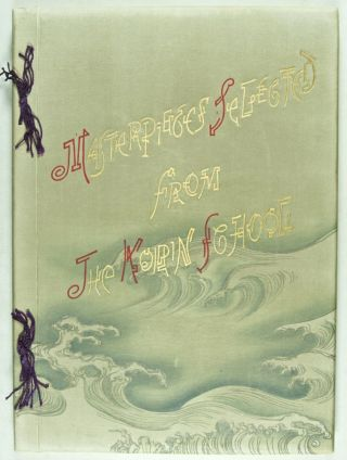 Masterpieces selected from the Korin School. With biographical Sketches of the Artists of the School and some critical Descriptions. Vols. I and II [NUMBERED AND SIGNED BY THE PUBLISHER]