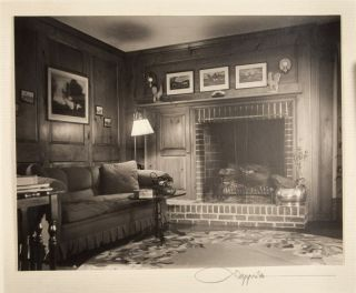 Twenty-Seven Original Photographs by Fred R. Dapprich of Santa Barbara Residences [ALL WITH ORIGINAL SIGNATURE BY PHOTOGRAPHER] with Letter from Frank A. Hellenthal regarding addition to E. D. Griffith's home (2 Portfolios)