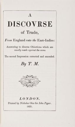 Early English Tracts on Commerce. J. R. McCulloch.