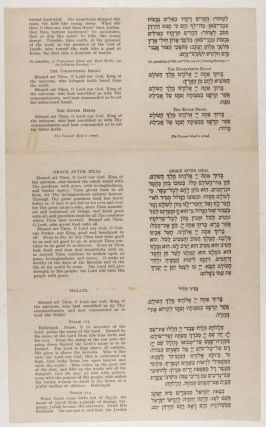 WWII Passover Archive: Five items from U.S. Army Chaplain Max A. Braude's 1945 Seder Service [UNIQUE]