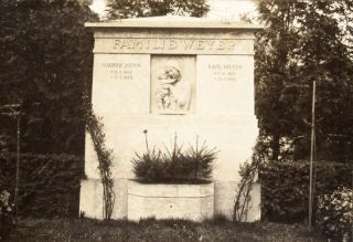 Unique Collection of Fifty-Nine Original Renderings & Photographs of Jewish and Christian Cemetery Monument Designs by Fritz Rosenberg and Hans Fink Predominantly for the Weissensee Friedhofs (many with original signature by Fink)
