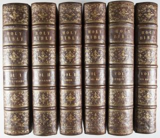 The Holy Bible Containing the Scriptures of the Old and New Testaments. Illustrated with a Great Number of Engravings by the First Artists, both Ancient and Modern. 6-vol. set (Complete)