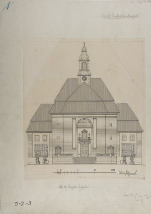 Collection of 10 printed architectural plans & drawings by Ludwig Hoffmann of the...