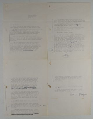 Unique William Saroyan Collection. 25 Items: Manuscripts, Letters, Notes, Telegrams, Books and Photographs [SOME SIGNED AND INSCRIBED BY SAROYAN]