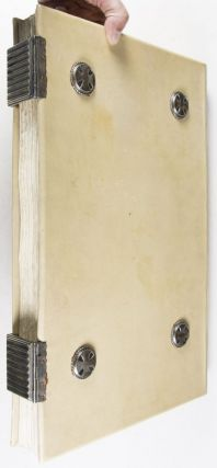 Decorative Full Vellum Binding designed by Johann Vinenz Cissarz (issued for the purpose of documenting a German city's chronicle during World War I)