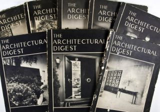 The Architectural Digest: A Pictorial Digest of Outstanding Architecture, Interior Decoration and Landscaping ( 20 issues 1949 - 1963 )