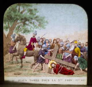 La Vie de Jesus (Handcolored Stereoviews for display with backlighting). Habert