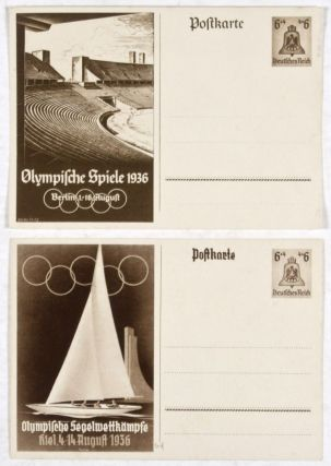 Nazi Germany 1936 Summer Olympics postcards. Georg Fritz, O. Anton