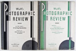 Wolff's Photographic Review. Vol. 1, No. 1 + 2