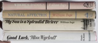Good Luck, Miss Wyckoff; My Son is a Splendid Driver; Natural Affection; Where's Daddy? 4 Vols. [All INSCRIBED BY AUTHOR]