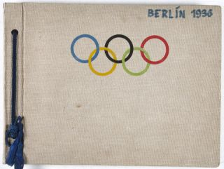 Unique photo album of gymnasts at the Berlin Olympic Games of 1936. n/a.