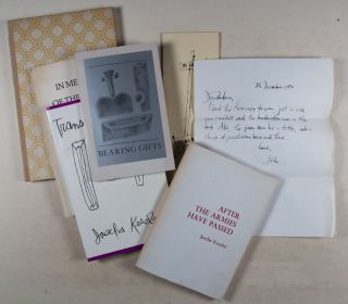 Group of 12 Jascha Kessler Publications of Poetry, Short Fiction, and one Essay [9 OF THEM DEDICATED AND SIGNED BY AUTHOR]