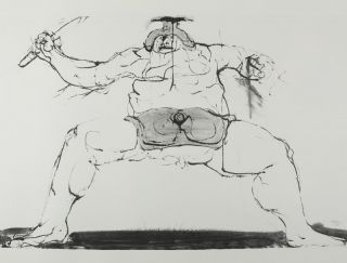 Drawings for the Iliad [WITH THREE ORIGINAL ETCHINGS SIGNED BY THE ARTIST]. Leonard Baskin.