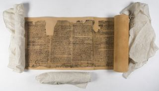 The Dead Sea Scrolls: Reproduction made from the original scrolls kept in the Shrine of the Book, Jerusalem