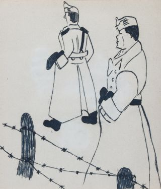 Illustrated Poetic Diary of a Jewish Hungarian forced to Labor Service during WWII. Géza...