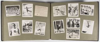 Olympia-Jahr 1936 (Photo-Album containing 216 photographs + 18 caption cards pertaining to the Berlin 1936 Olympics) [COMPLETE SERIES]