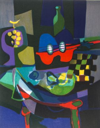 Marcel Mouly with Commemorative Suite of Four Color Lithographs [SIGNED]. Marcel Mouly