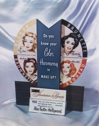 Max Factor, Hollywood [FROM THE PERSONAL COLLECTION OF MAX FACTOR'S GRAPHIC DESIGNER ROBERT...