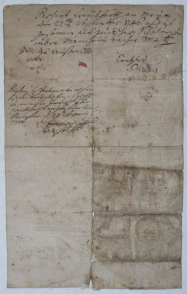 18th Century Printed and Manuscript Prussian Passport for the Jew Abraham Salomon
