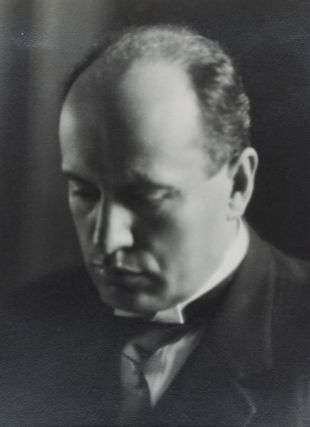 Photograph: Portrait of Mussolini [INSCRIBED BY BENITO MUSSOLINI TO LOUIS BARTHOU]. Benito...