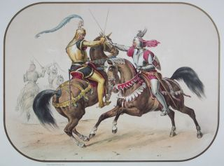 Das Caroussel: the Royal oriental-occidental tournament of 1846 with the most beautiful and magnificent pure desertbred Arabians from the Royal Stud at Weil, owned by His Majesty King Wilhelm I., of Württemberg, in Germany [SIGNED]. Rainer Michael Sachadae, Baron Franz von Dingelstedt, Johann Zwecker, Carl Kurtz, Rainer Michael Sachadae, Betty Finke.