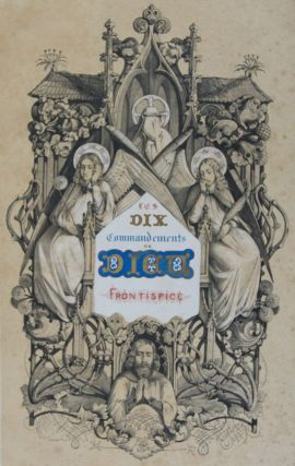 Les Dix Commandements de Dieu [WITH 11 LITHOGRAPHIC PLATES]. Louis Judicis de Mirandole, V....