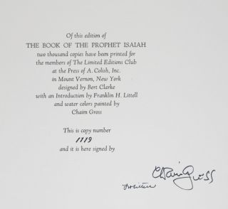 The Book of the Prophet Isaiah in The King James Version [SIGNED]