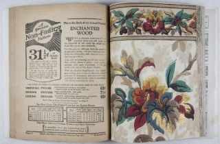 Non-Fading Wall Papers for 1929 [WITH 90 VINTAGE WALLPAPER SAMPLES]