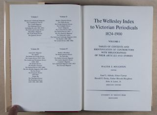 The Wellesley Index to Victorian Periodicals 1824–1900, 5 Vols. Walter Houghton, E