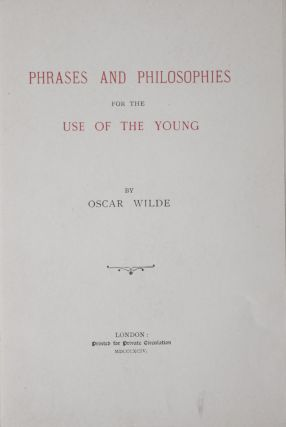 Phrases and Philosophies for the Use of the Young