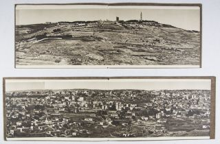 Jerusalem N. E., Jerusalem S., and Jerusalem (x2) [FOUR FOLD-OUT PANORAMIC VIEWS OF JERUSALEM IN PHOTOGRAVURE]