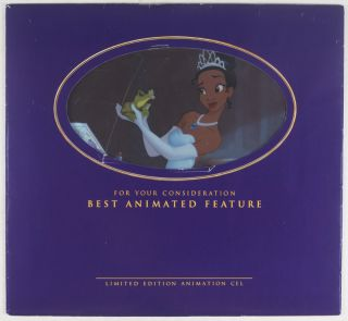 Disney's The Princess and the Frog Limited Edition Animation Cel. n/a