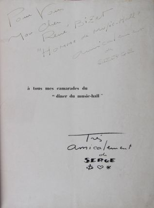 Des Clowns, des Girls, du Cinéma [INSCRIBED AND SIGNED BY THE ARTIST TO FRENCH AUTHOR RENÉ BIZET]