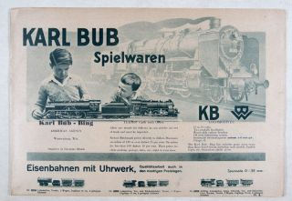 Karl Bub Spielwaren - KB Locomotives. KB, Karl Bub