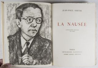 La Nausée (Nausea) [WITH AN ORIGINAL LITHOGRAPH IN TWO STATES BY GOERG]
