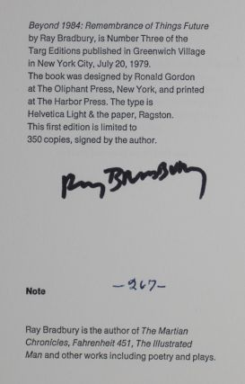 Beyond 1984: Remembrance of Things Future [SIGNED]