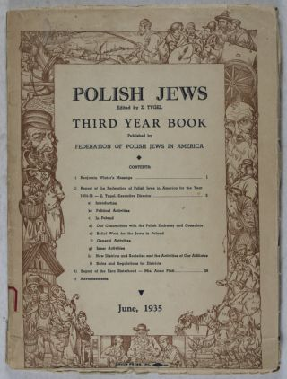 Polish Jews. Third Year Book (1935). Z. Tygel, Arthur Szyk, illus.