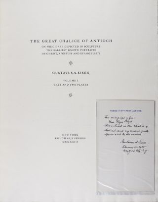 The Great Chalice of Antioch: On Which Are Depicted in Sculpture the Earliest Known Portraits of Christ, Apostles and Evangelists. 2-vol. set (Complete)