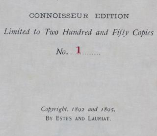 The Works of Alfred, Lord Tennyson, Poet Laureate [CONNOISSEUR EDITION]. 12-vol. set (Complete)