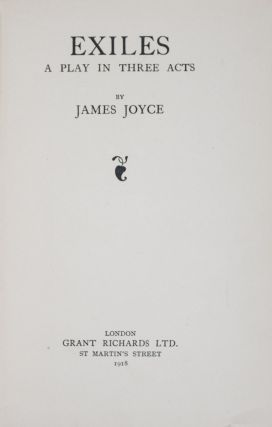 Exiles: A Play in Three Acts. James Joyce.