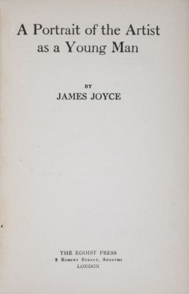 A Portrait of the Artist as a Young Man (Shakespeare and Company Bookstore copy). James Joyce