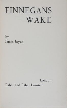 Finnegans Wake. James Joyce.