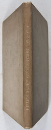 The Bibliography of Tennyson: A Bibliographical List of the Privately-printed Writings of Alfred Lord Tennyson Poet Laureate from 1827 to 1894 [WITH] Grolier Club Exhibiton Pamphlet & Chromolithograph
