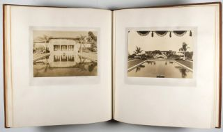 "Commemorative Architectural Photography Albums of the Clarence A. Black Estate ""El Cerrito"" on the ""Santa Barbara Riviera"" [UNIQUE STUDY WITH ALL IMAGES SIGNED] with photograph of Fred R. Dapprich by Milton M. Inman"