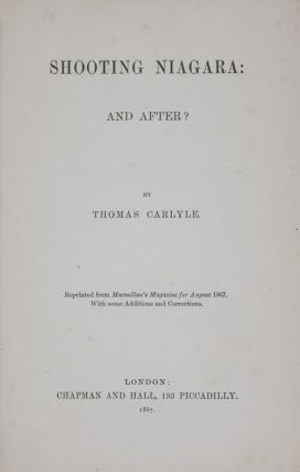 Shooting Niagara: And After? Thomas Carlyle.