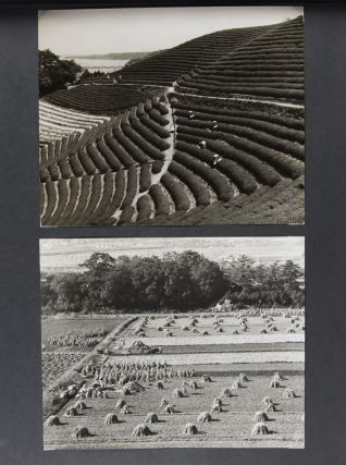 Unique Photo-Album containing original photographs depicting Japanese landmarks and Japan's iconic cultural symbols [WITH 66 SILVER GELATIN PRINTS]