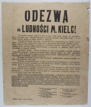 """Odezwa do Ludnosci M. Kielc!"" (Appeal to the People of the City of Kielce). n/a"