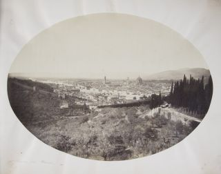 Florence [19TH-CENTURY PHOTO-ALBUM WITH 90 ALBUMEN PRINTS FROM THE FRATELLI ALINARI]. Leopoldo...