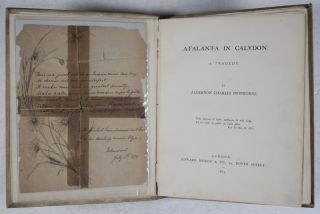 Atalanta in Calydon, A Tragedy [WITH A LETTER FROM SWINBURNE'S SISTER]