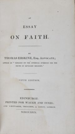 An Essay on Faith [SIGNED & INSCRIBED BY EMILY TENNYSON]. Thomas Erskine.